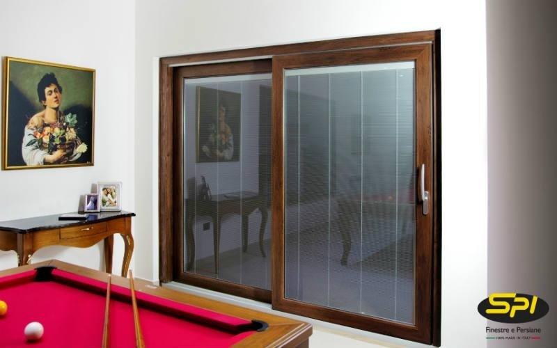 porta scorrevole alluminio e legno