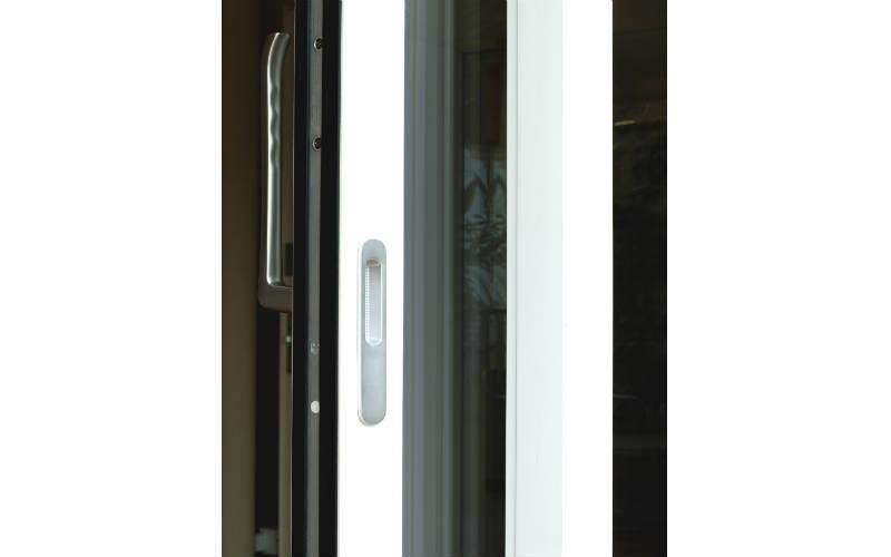 dettaglio apertura porta finestra pvc scorrevole Vision