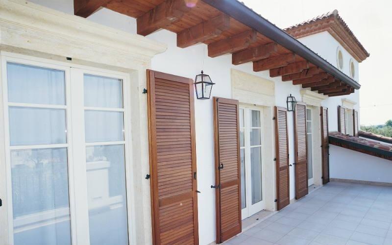 Porta finestra legno alluminio
