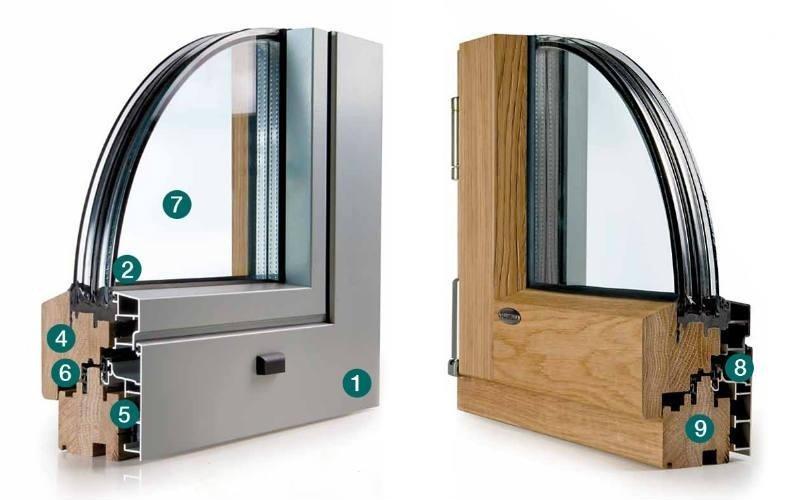 finestra angolo legno alluminio