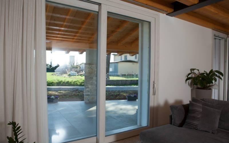 porta finestra scorrevole pvc legno