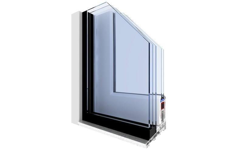 finestra pvc laccata nera Gruppo Finestre
