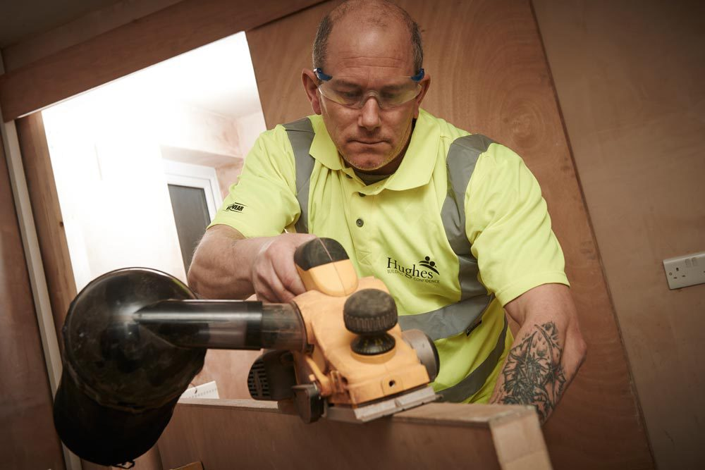 Professional providing carpentry services