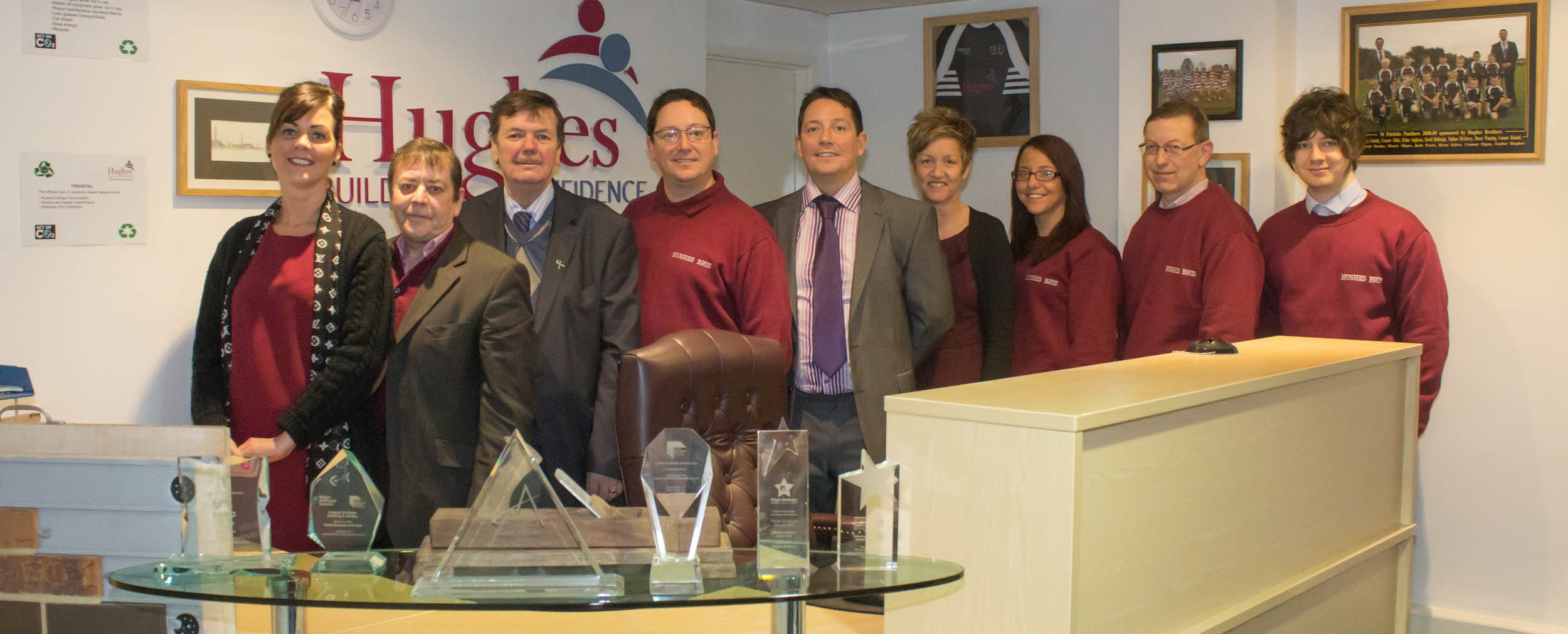 Team of professionals at Hughes