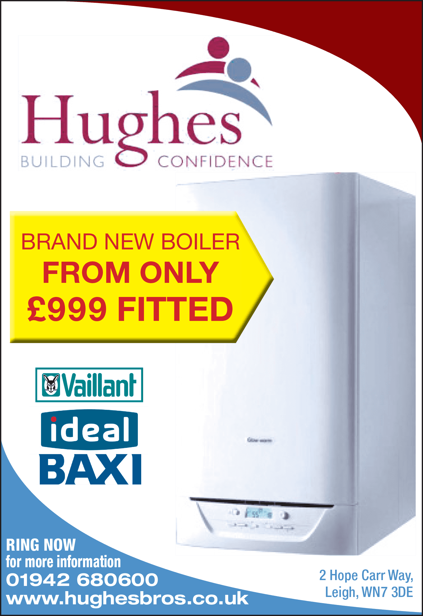 Hughes Brand New Boiler at reasonable price