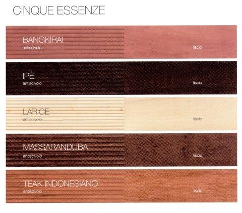 essenze legno per esterni