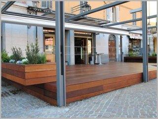 pavimento legno veranda hotel