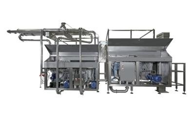 Machinery for cooling pasta