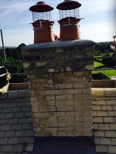 look of the chimney before