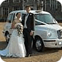 White wedding taxis