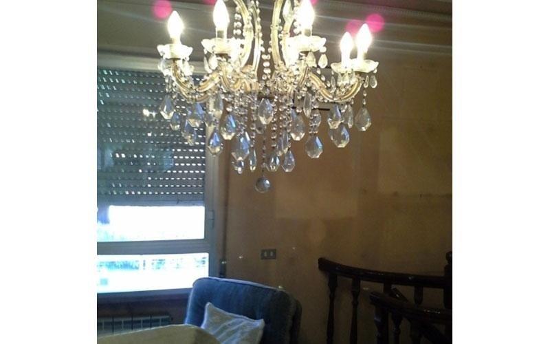 Pulizia in appartamenti di lampadari