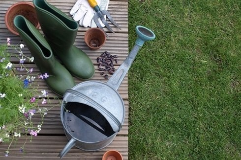 Materiali per giardinaggio.