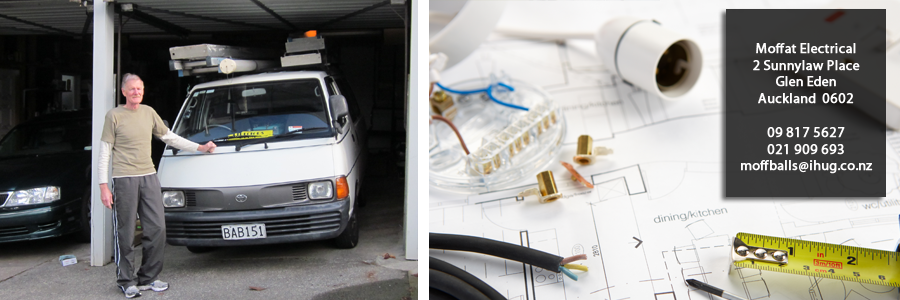 Professional electrician performing work in Auckland