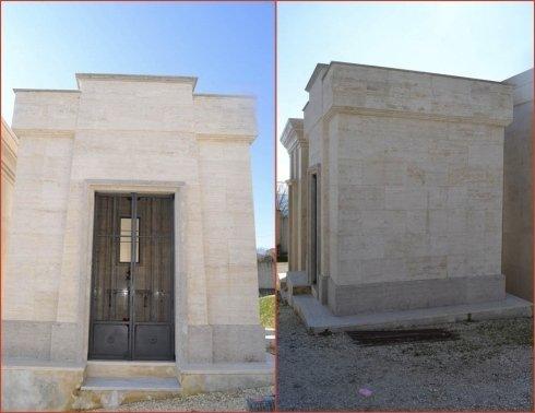 Costruzione edicole funerarie e tombe di famiglia.