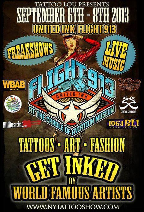 United Ink Flight 913 event banner advertisement