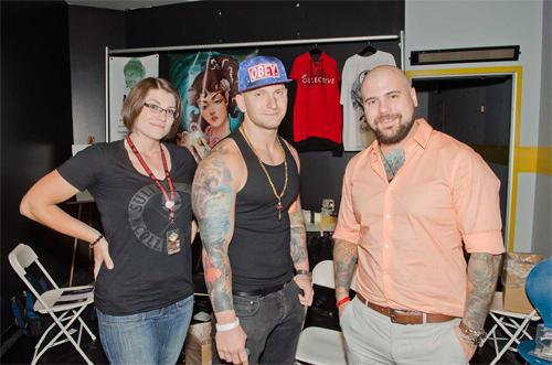 Tattoo artists at Flight 914 event