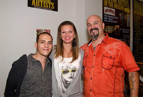 Tattoo artists at the Flight 914 event