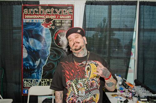 Tattoo artist at Flight 914 event