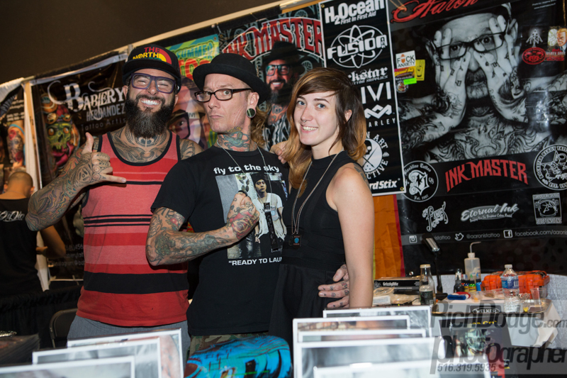 Tattoo artists at the United Ink Flight 915 event