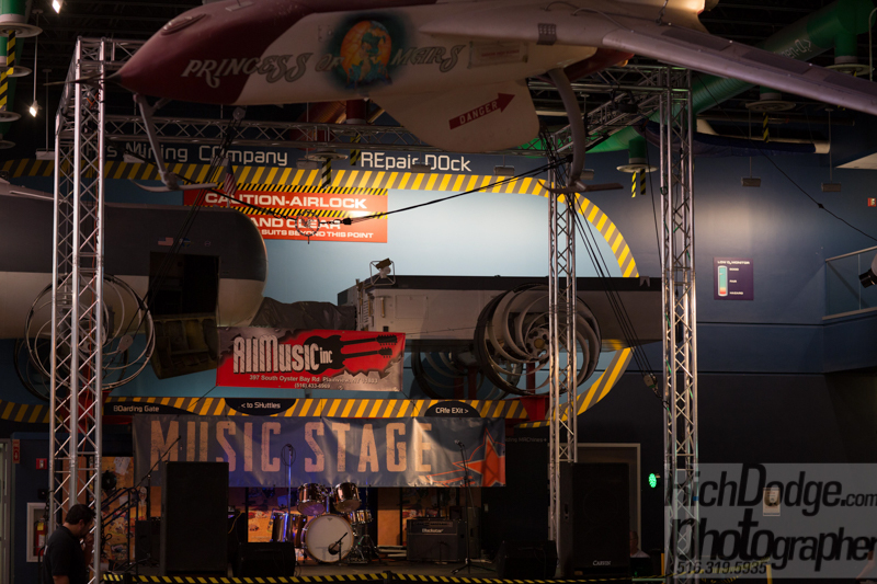 Music stage at the  United Ink Flight 915 event