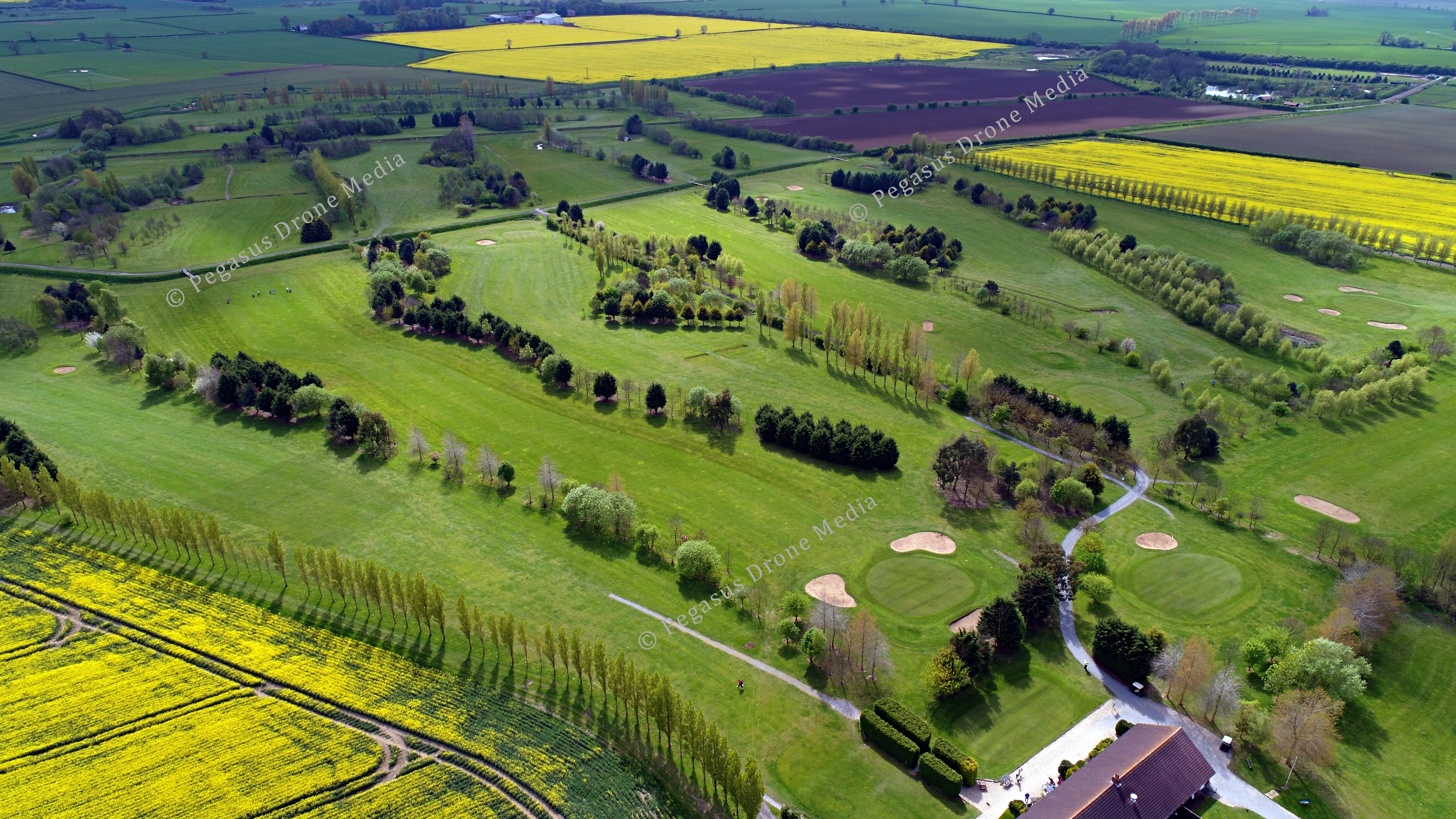 Aerial view of Tetney Golf Course, Lincolnshire by Pegasus Drone Media