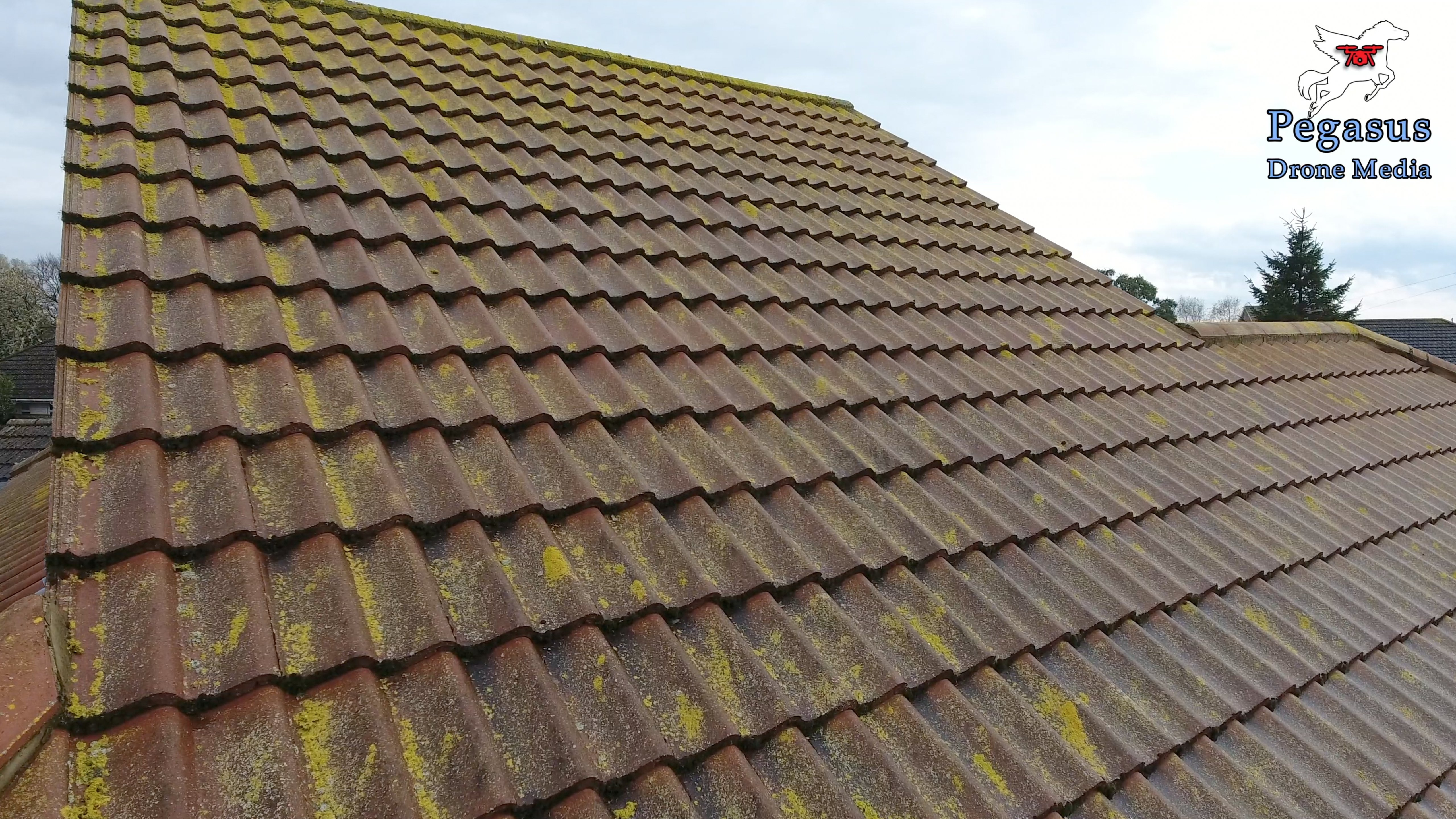 Pegasus Drone Media aerial videography and photography of roof tiles