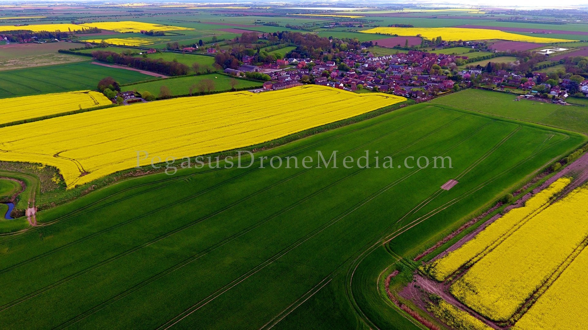Marshchapel village photographed from the air by drone SUA