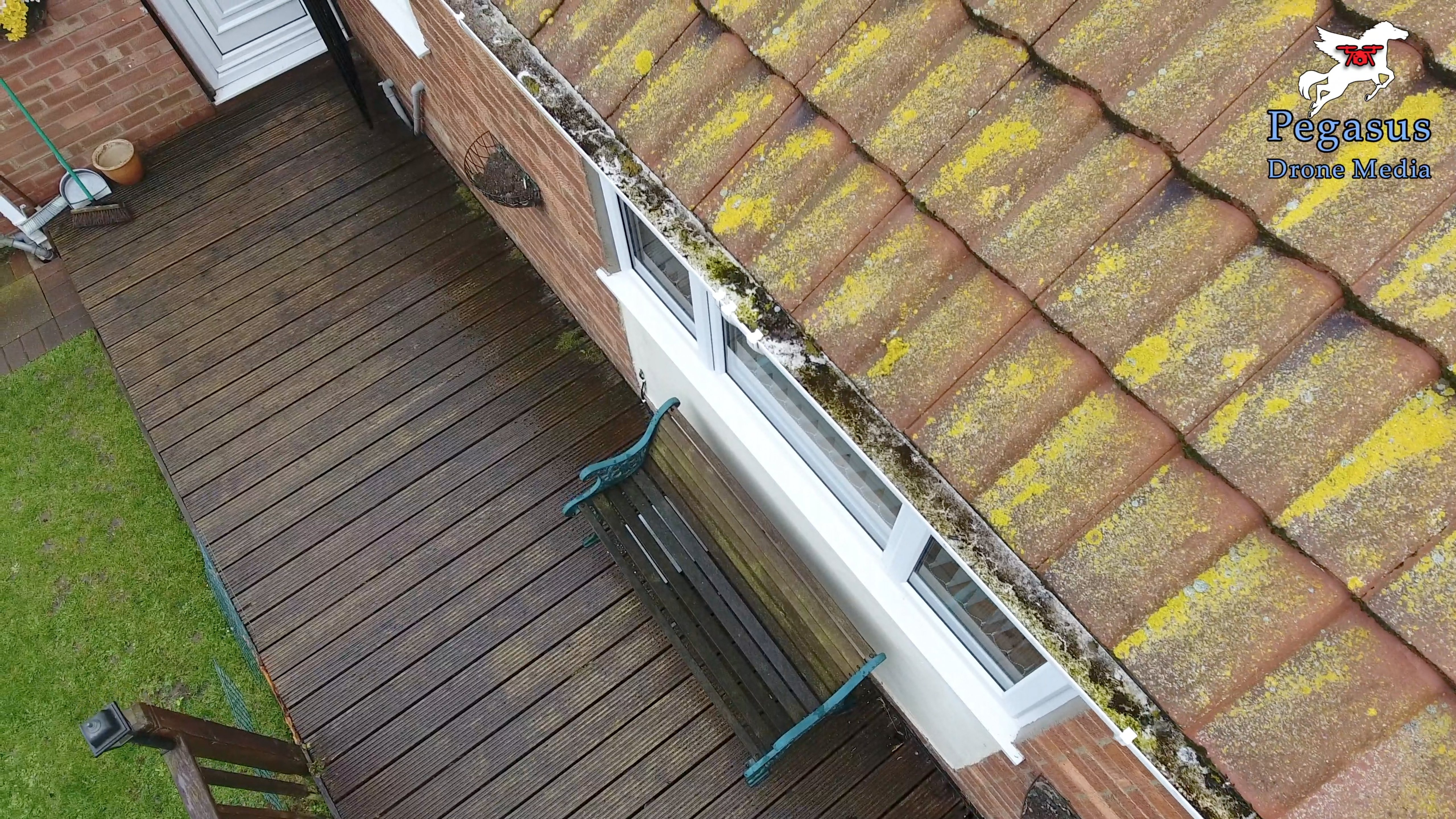 Pegasus Drone Media aerial videography and photography of guttering