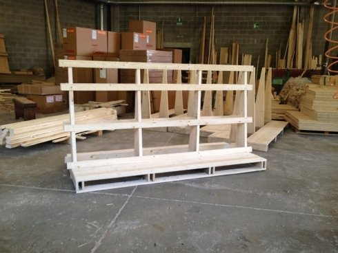 struttura per gabbia in legno