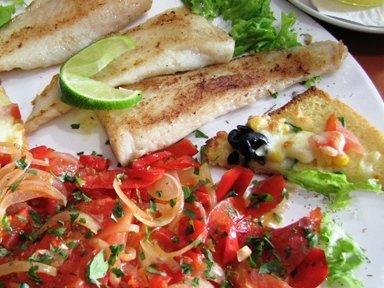 grigliata pesce con contorno