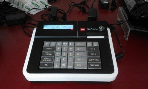 registratore di cassa compatto con fili