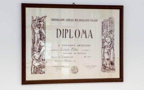 Diploma di Anzianità Artigiana Corderia Iddo Corai
