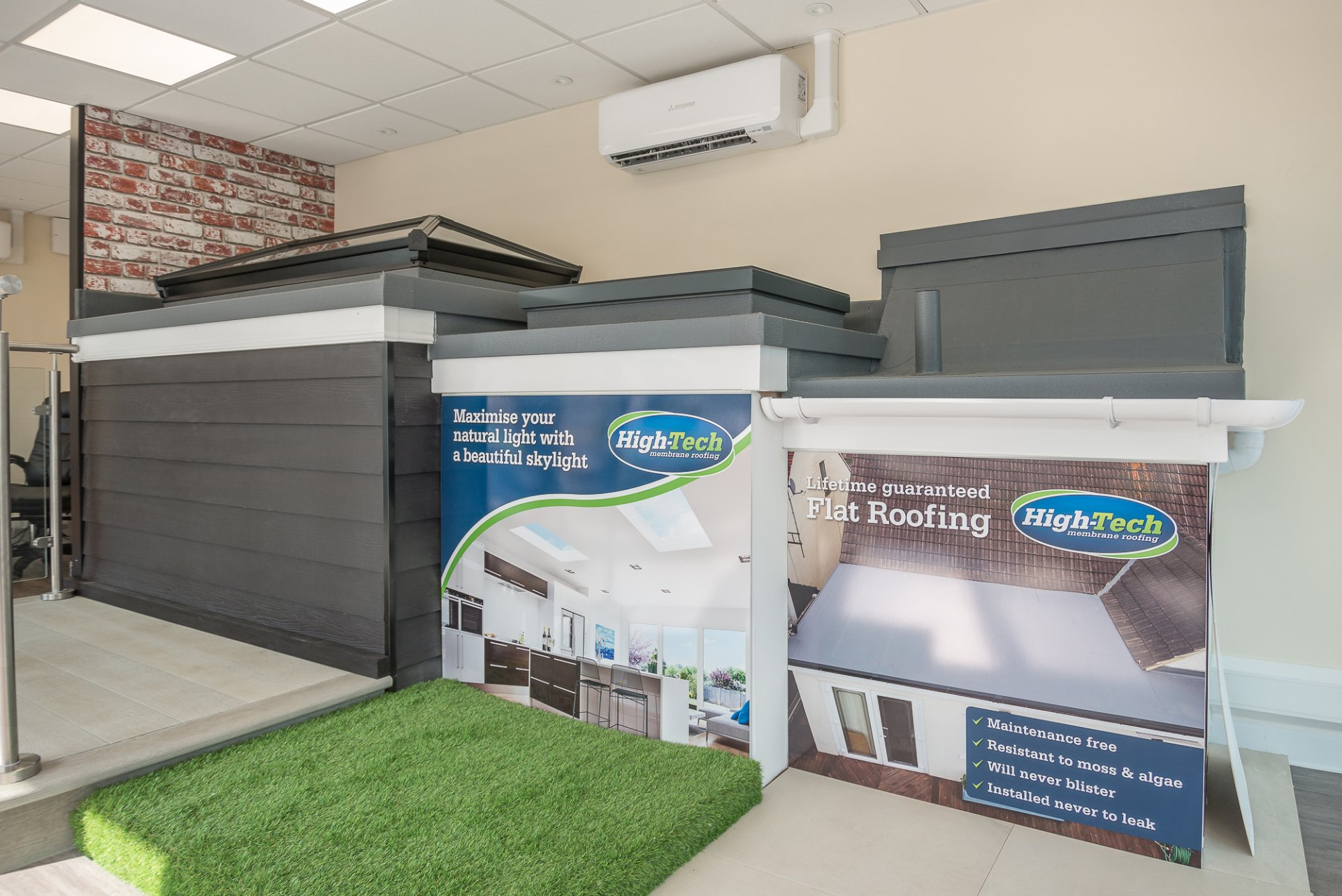 High Tech Flat Roofing showroom in Leigh on Sea, Southend, Essex
