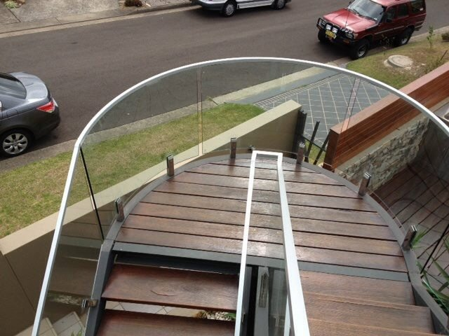 Modern glass balustrade