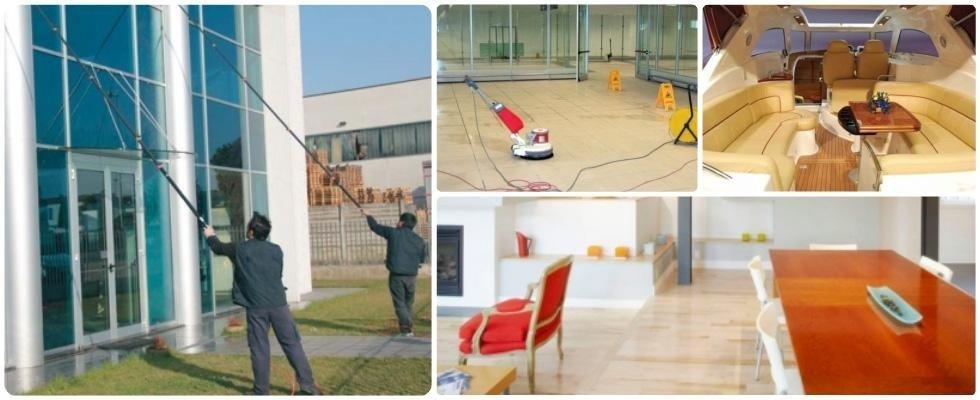 pulizia di vetri, pavimenti e superfici speciali