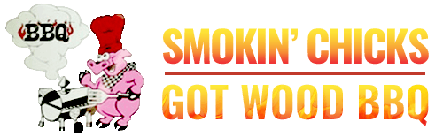 SMOKIN CHICKS GOT WOOD BBQ logo