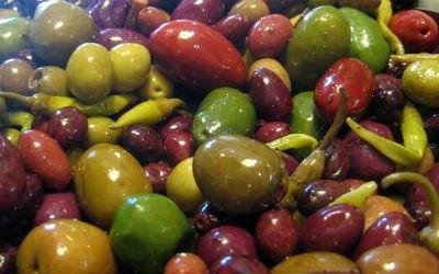 olive verdi e nere condite