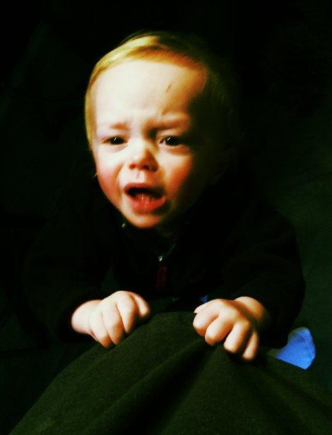 angry crying baby
