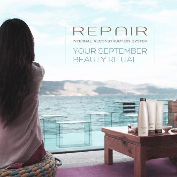 pubblicita trattamenti capelli a marchio REPAIR