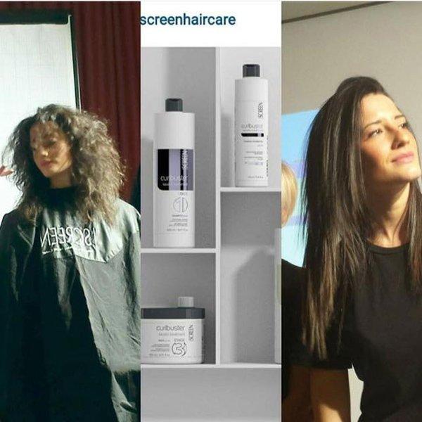 modelle in un salone da parrucchieri
