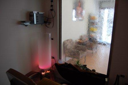 stanza per trattamenti e relax