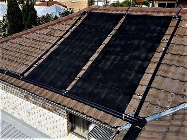two solar thermal heating panels