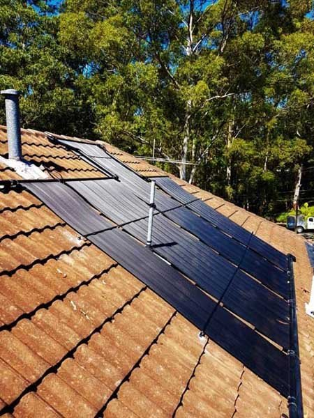 solar panels with greenery