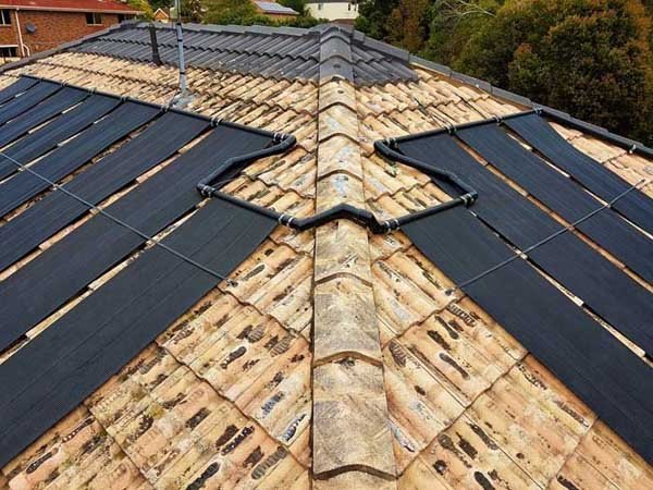 solar panels on two sides of a roof