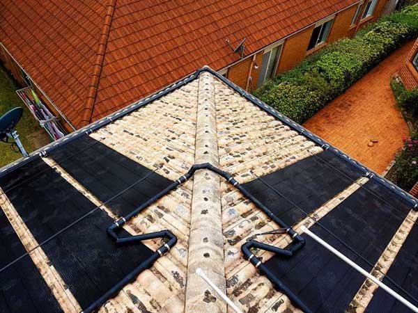 roof corner with solar panels