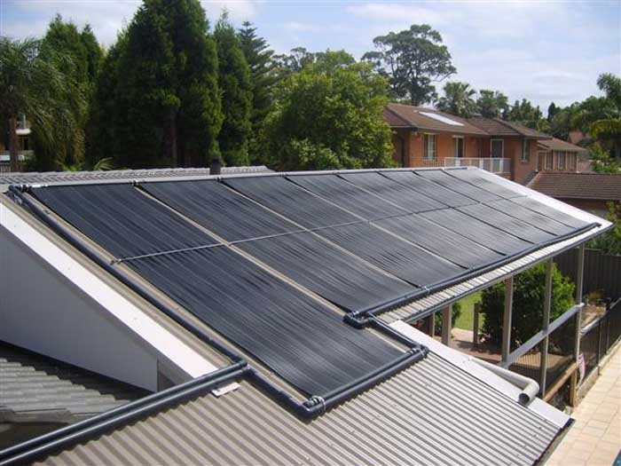 solar thermal heating for residential pool