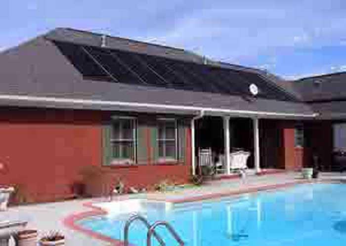 solar panels on red brick house