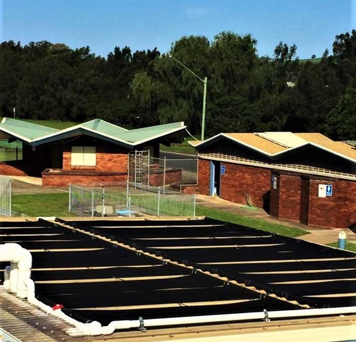 solar heated pools