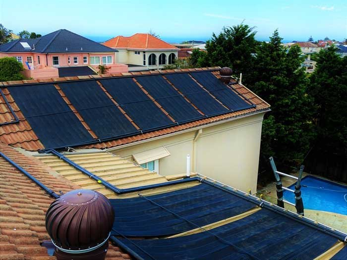 residential home with solar panels