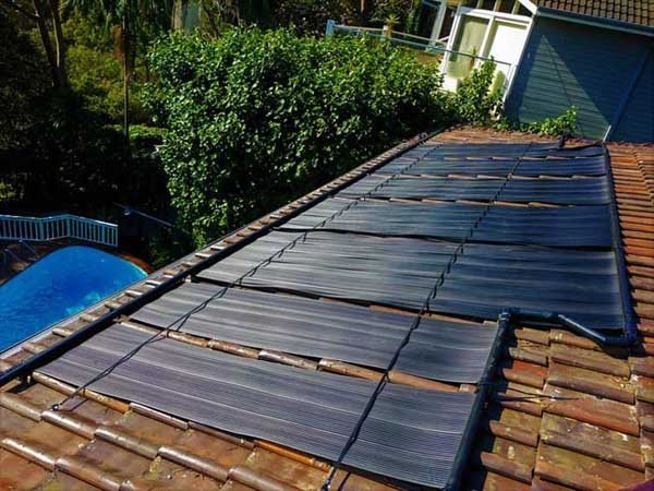 solar panels on brown roof